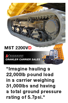 Morooka MST-2200 Rubber Tracked Truck